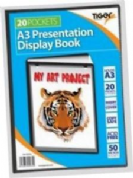 Tiger A3 Premium Display Book - 20 Pocket